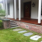 Wood Deck with Flagstone Steps