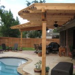 Stamped Concrete with Pergola