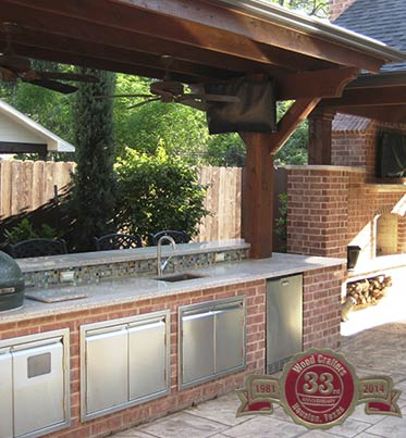 an image of one of our outdoor kitchens in houston