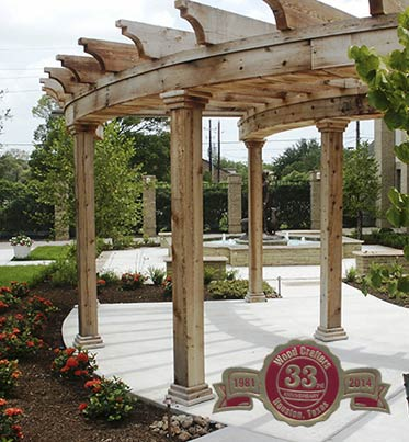 an example of our pergolas in Houston