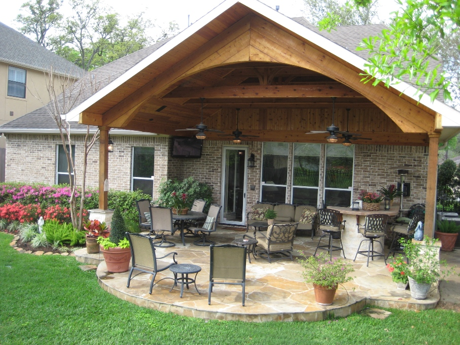 Easy Covered Patio Designs | Joy Studio Design Gallery ... on Wood Covered Patio Ideas id=60823